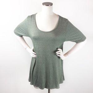 Lularoe Perfect T Olive Green Tunic Top large